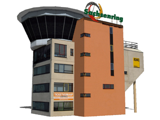 3d Model of Control Tower Sachsenring, Chemnitz